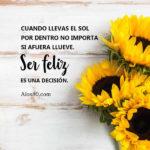 Images con rosas y frases: Como ser feliz