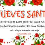 Frases lindas con Imagenes de Jueves Santo
